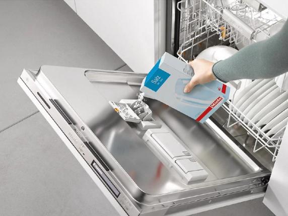 نحوه استفاده از نمک ماشین ظرفشویی